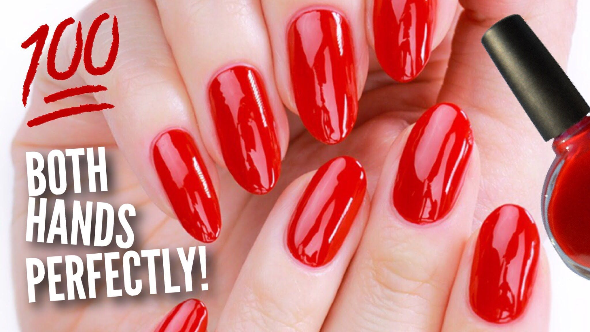 Paint the nails on your OTHER hand perfectly! This video is HIGHLY ...