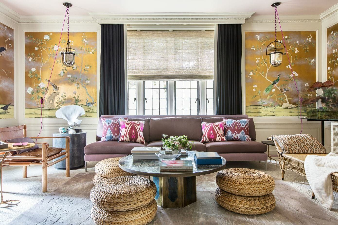 Before After Eclectic Home Interior Design Living Room Design