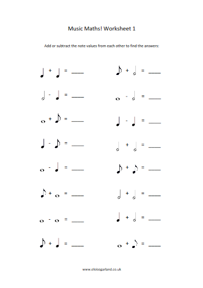 Music Maths Have Fun Testing Your Students Knowledge Of Note