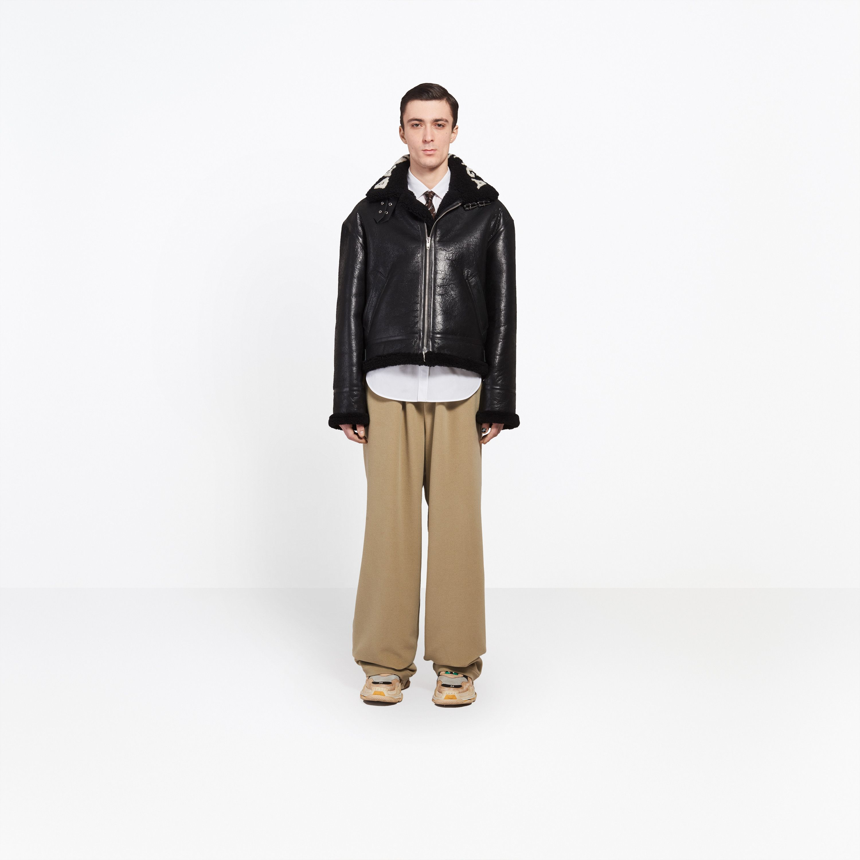 grand choix de 3c309 7439b Balenciaga Iconic bomber with logo incrusted in intarsia at ...