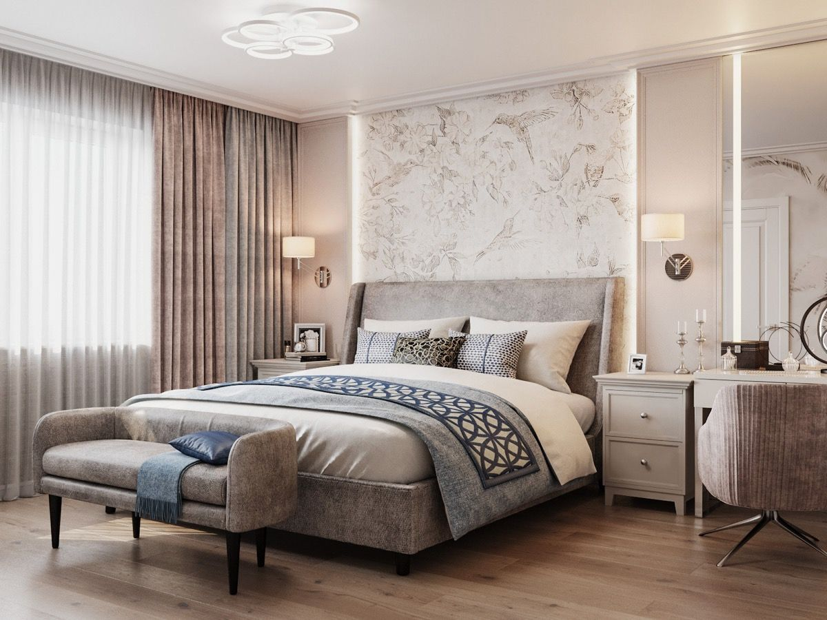 40 Transitional Bedrooms That Beautifully Bridge Modern And Traditional Modern Luxury Bedroom Bedroom Furniture Design Luxurious Bedrooms Transitional bedroom decorating ideas