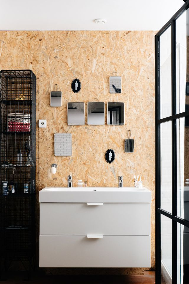Miroir Salle De Bains : Inspiration Déco | Plywood, Osb Plywood And