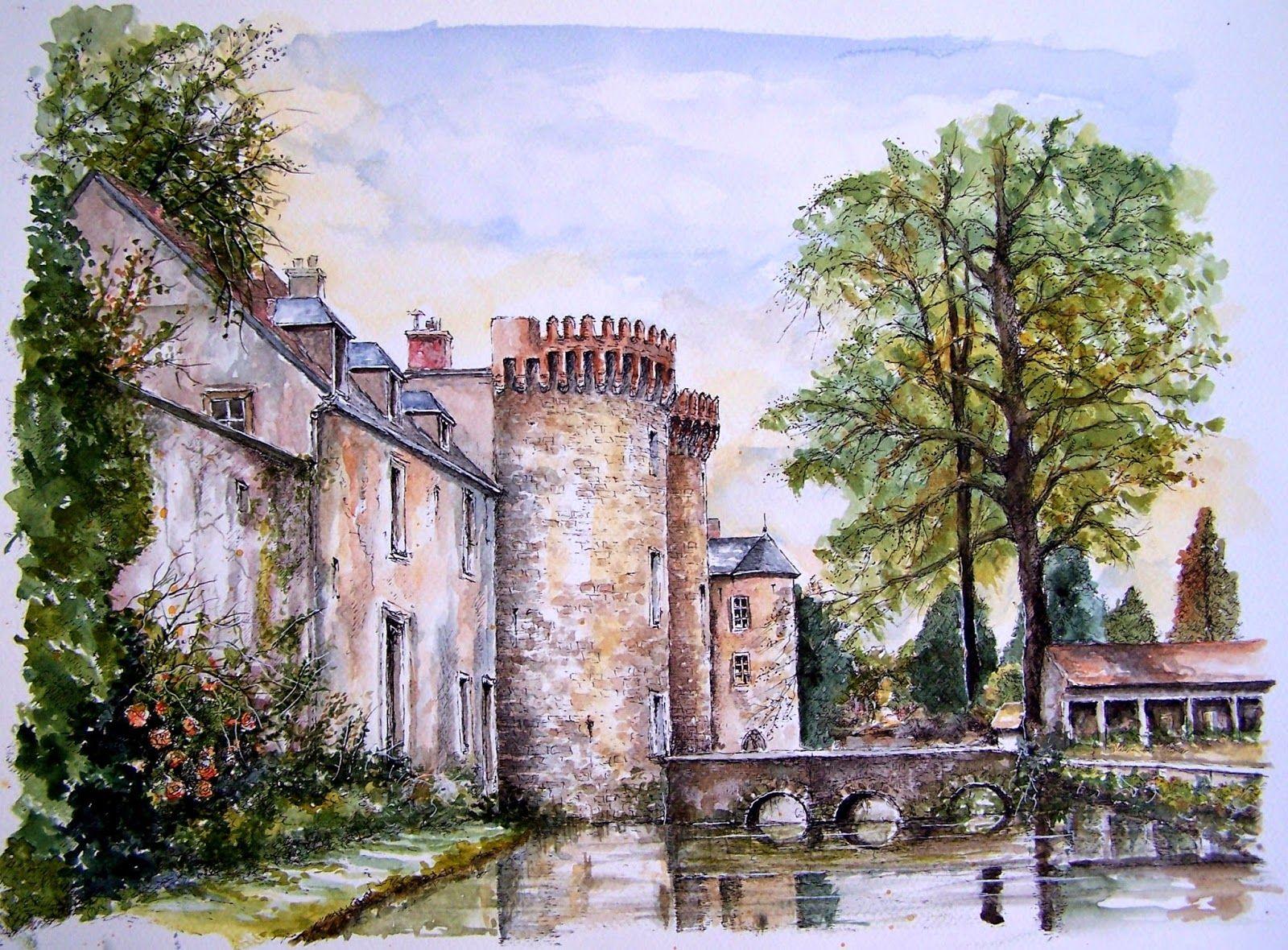 Kathy bosc artiste peintre aquarelles de milly for Artistes de jardin