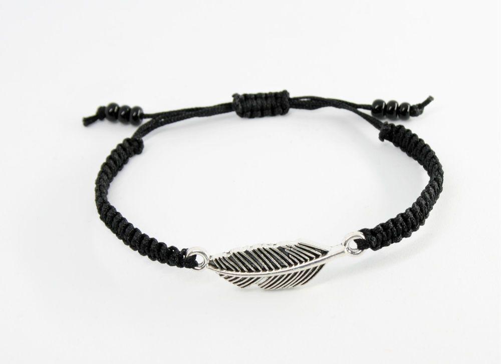 Buddha Glücksarmband Glücksbringer Armband Silber Schwarz verstellbar 25 cm