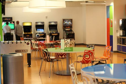 Gaming And Relaxing In An Amazing Break Room Kitchen At Quicken