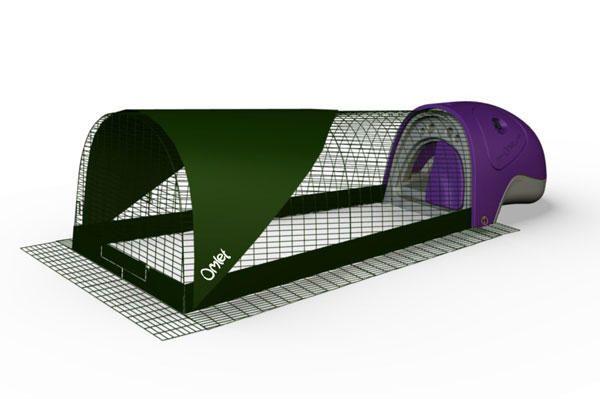 Purple Eglu Quail House With 2 Metre Run