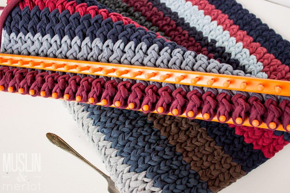 Knitting Loom T Shirt Rug Neck Pillow Loom Knitting And Pillows