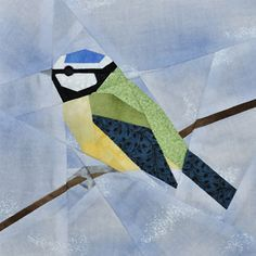 free foundation pieced bird pattern by claudias quilts - love this