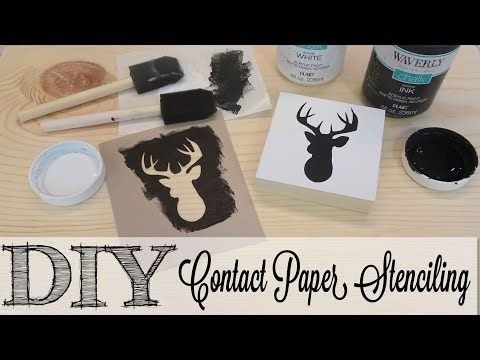 21 Diy Creating Contact Paper Stencils Full Tutorial Youtube