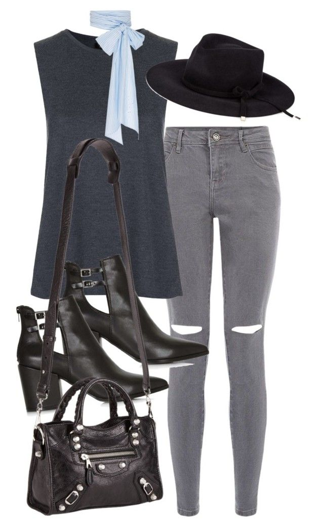 """""""Untitled #4286"""" by amm-xo ❤ liked on Polyvore featuring Topshop, MDS Stripes, Gucci and Balenciaga"""
