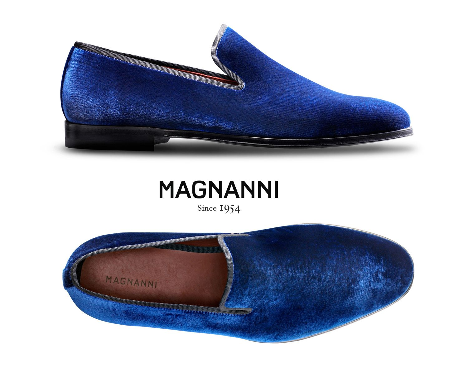 14c35557b3fa4 Magnanni Dorio. Navy velvet slip-on exclusive at www.magnanni.com ...