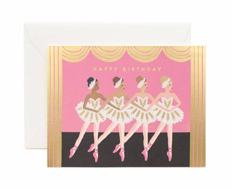 Ballet Birthday Greeting Card