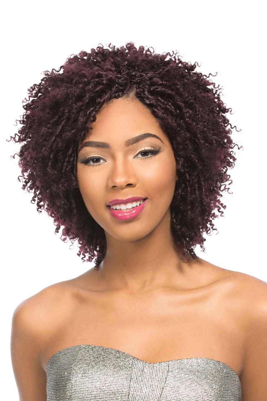 Sensationnel 100 Remi Human Hair Crochet Braids Berry