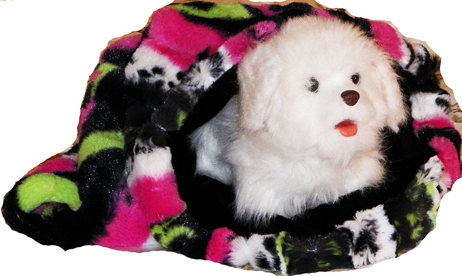 Pampered Pets My Snuggly Pet Bed, Small, Pink/Lime ** You