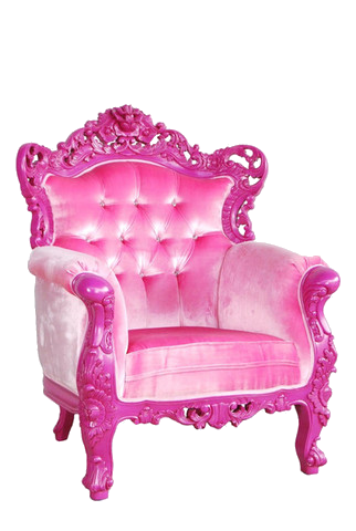 Fashion Transparent Decor Pink Furniture Pink Baroque Furniture