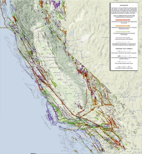 California Fault Lines Map Updated Map Of Earthquake Hazard