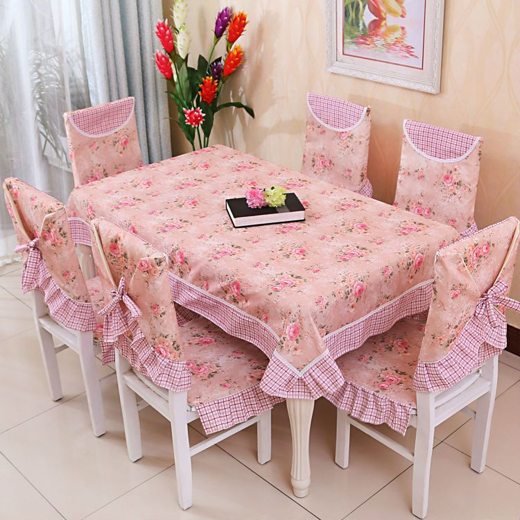 Flowers Kitchen Chair Covers In 2020 Kitchen Chair Covers Table Cloth Shabby Chic Dining Tables