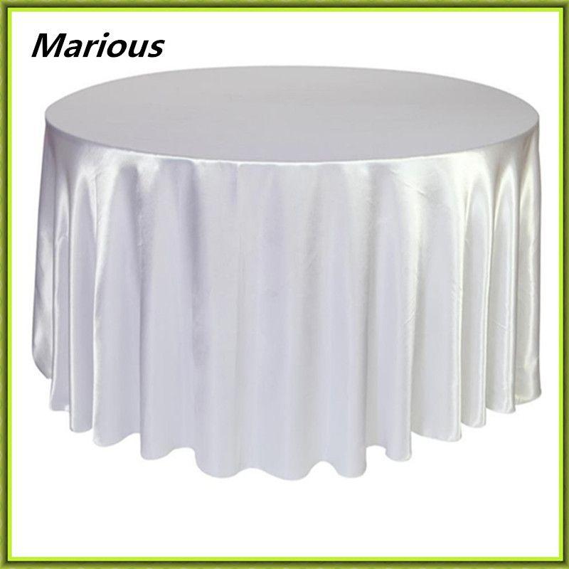 Free Shipping 180 180cm Satin Wedding Table Cloth Round Cloth