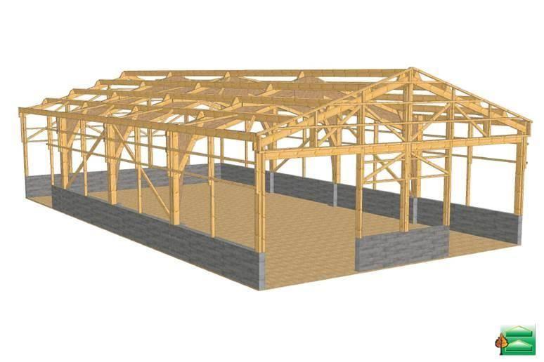 BâtiCausses  réalisation de bergerie et chèvrerie charpente bois, bâtiment