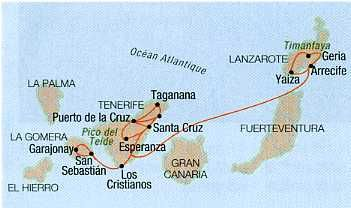 Les Iles Canaries Espagne Iles Canaries Canaries Carte Canaries