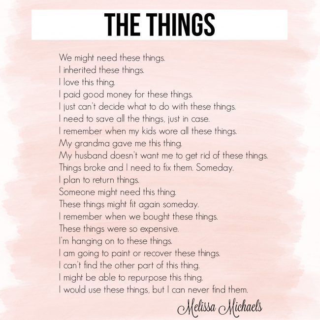 The Things Poem Words Of Wit And Wisdom Pinterest Poems