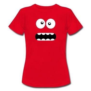 Tee shirt Drôle Cartoon Monster Face - Crazy / Smiley #cloth #cute #kids# #funny #hipster #nerd #geek #awesome #gift #shop Thanks.