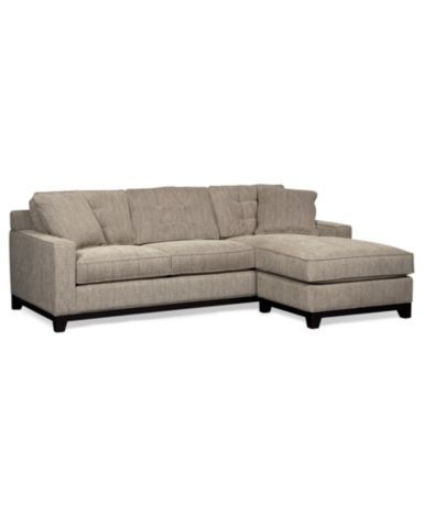 Clarke Fabric 2-Piece Sectional Sofa, Only at Macy's - Furniture - Macy's
