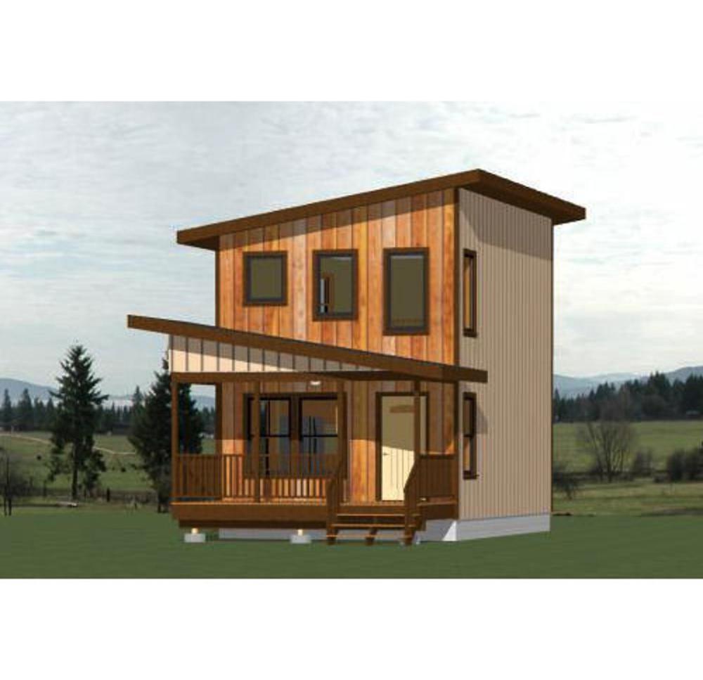 16x24 House 1 Bedroom 1 Bath 555 sq ft PDF Floor Plan Instant Download Model 2A