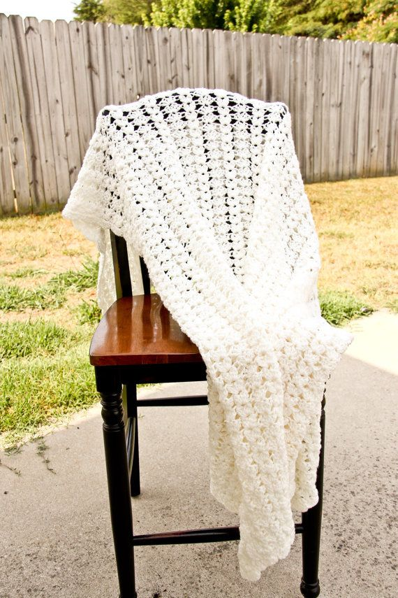 Large Lapsized afghan in Aran Ready to Ship by salemnovelties, $55.00