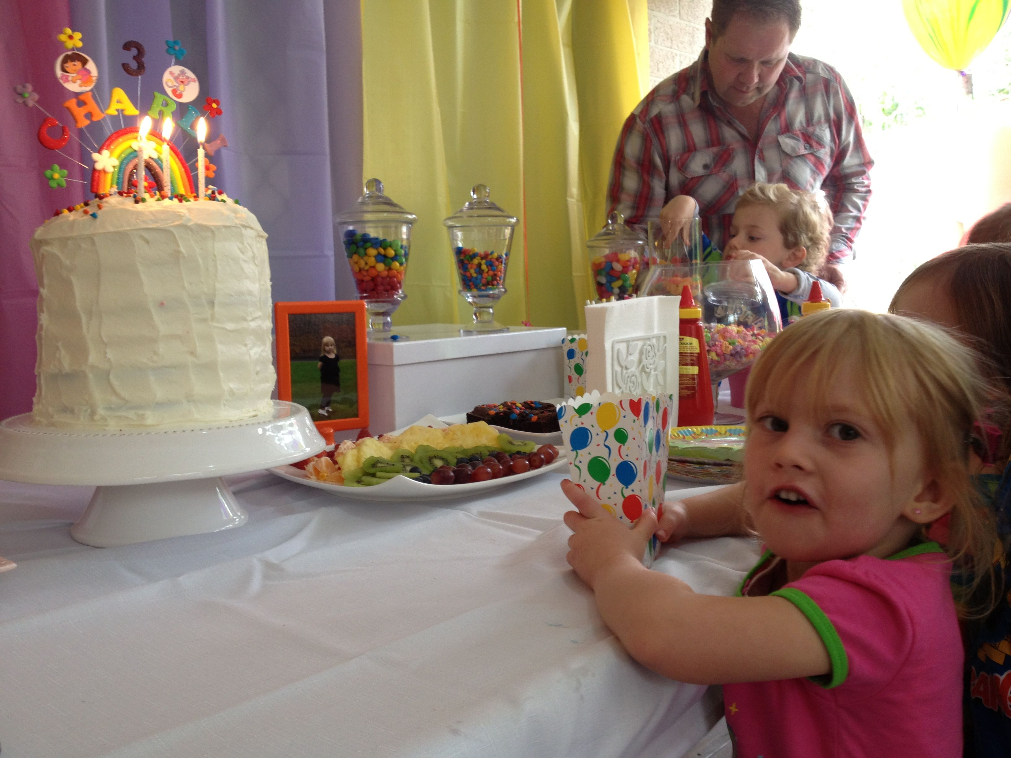 Charli the birthday girl waiting to blow out her candles