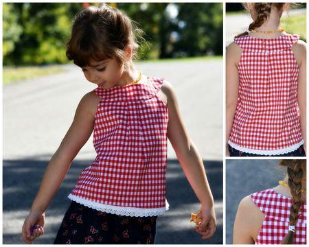 Mädchenkleid mit runder Passe zum Selbernähen - Schnittmuster und ...