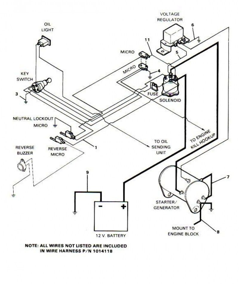 Gas Club Car Wiring Diagram  3