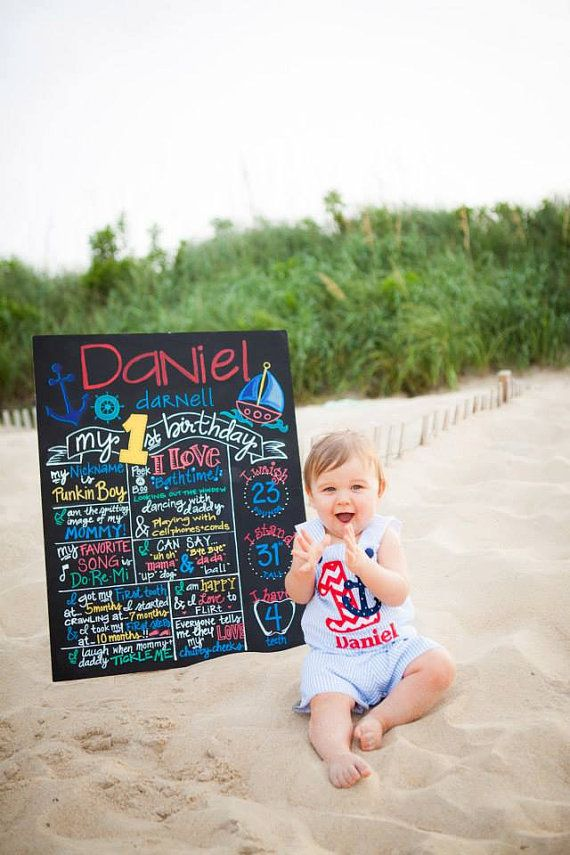 Hand Painted Chalkboard Personalized Birthday by BeYoutifulVAriety