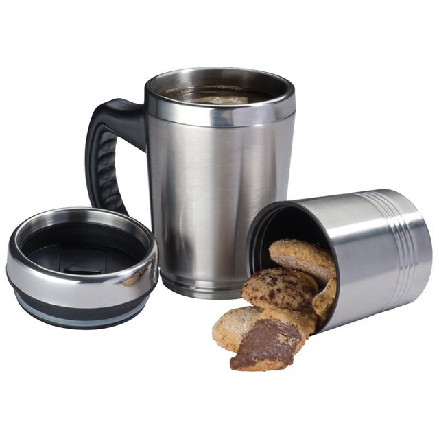 Drinkware & Mugs : 2 In1 Metal Thermo Mug Hadley - www.brandability.co.za