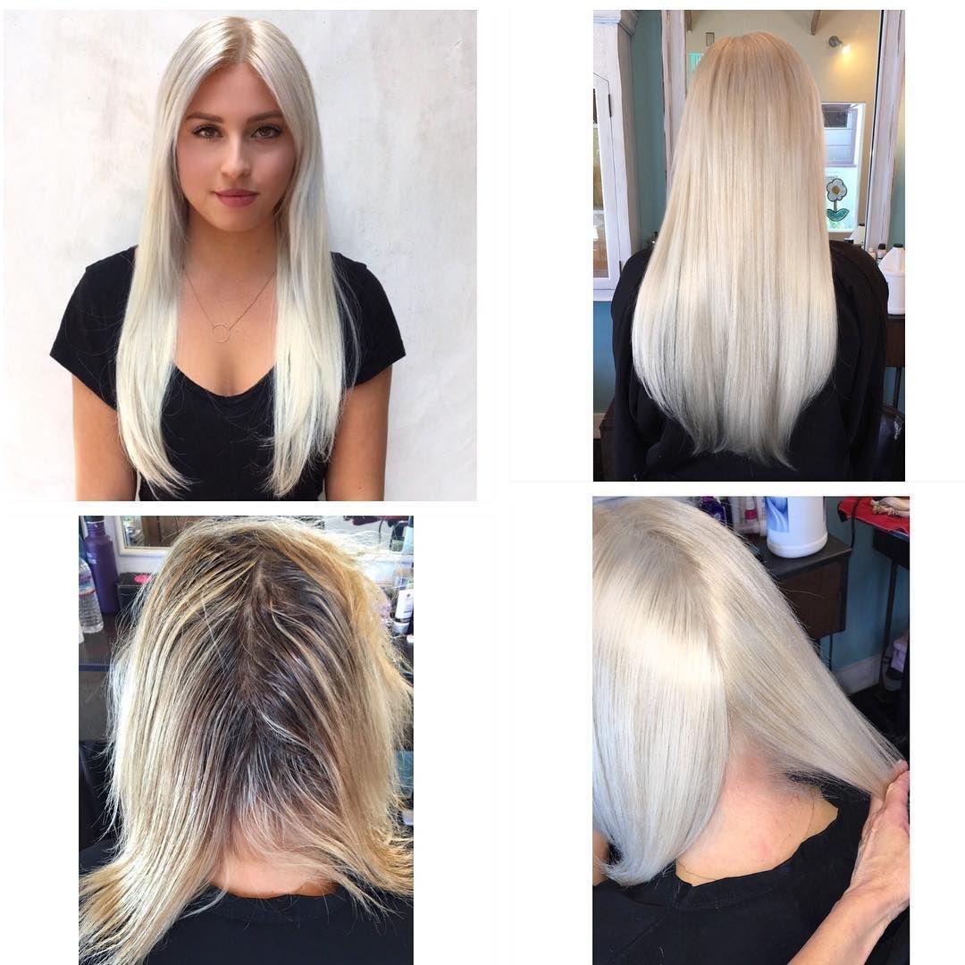 Bleach Blonde Hair Colour