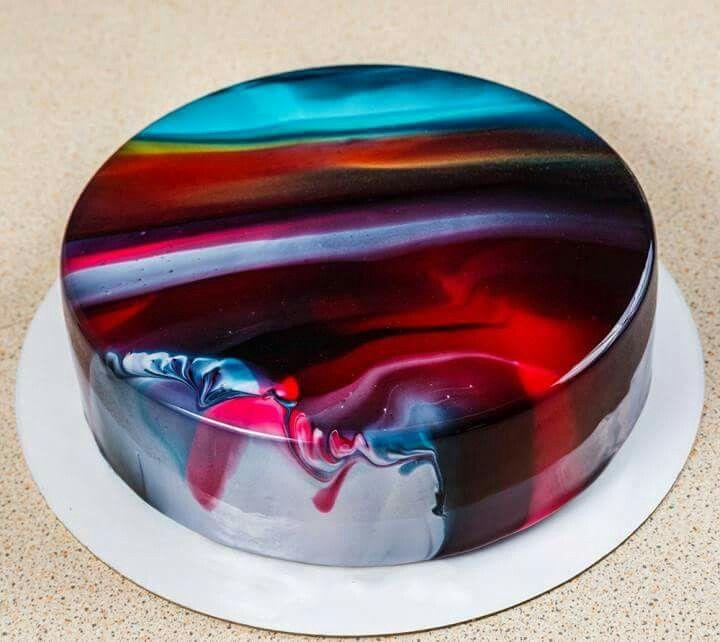 Pin By Geovoice On Cakes Mirror Cake Mirror Glaze Cake