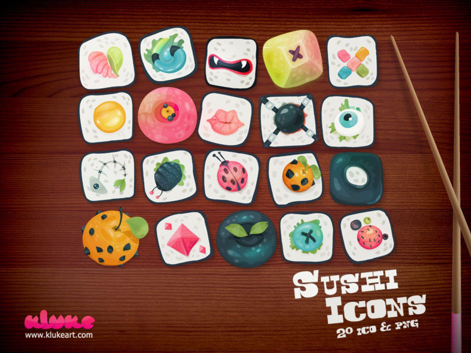 Sushi Icons by Kluke on DeviantArt (With images) Free
