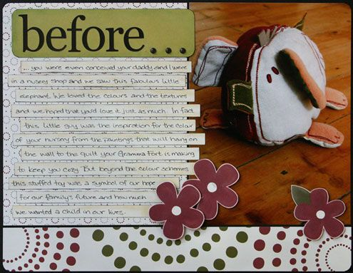 First Page Of Maternity Scrapbook Baby Cuteness Pinterest