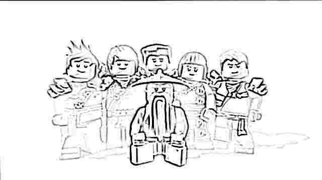 Lego Ninjago Coloring Pages Free Printable Lego Ninjago