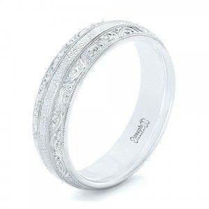 Custom Hand Engraved Mens Wedding Band Joseph Jewelry Bellevue