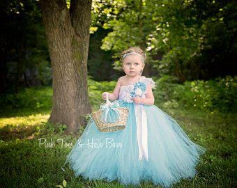 Powder Blue Flower Girl Dress