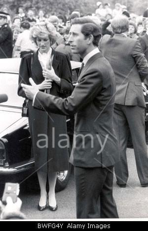 May 20 1985 Charles & Diana visit victims of the Bradford ...