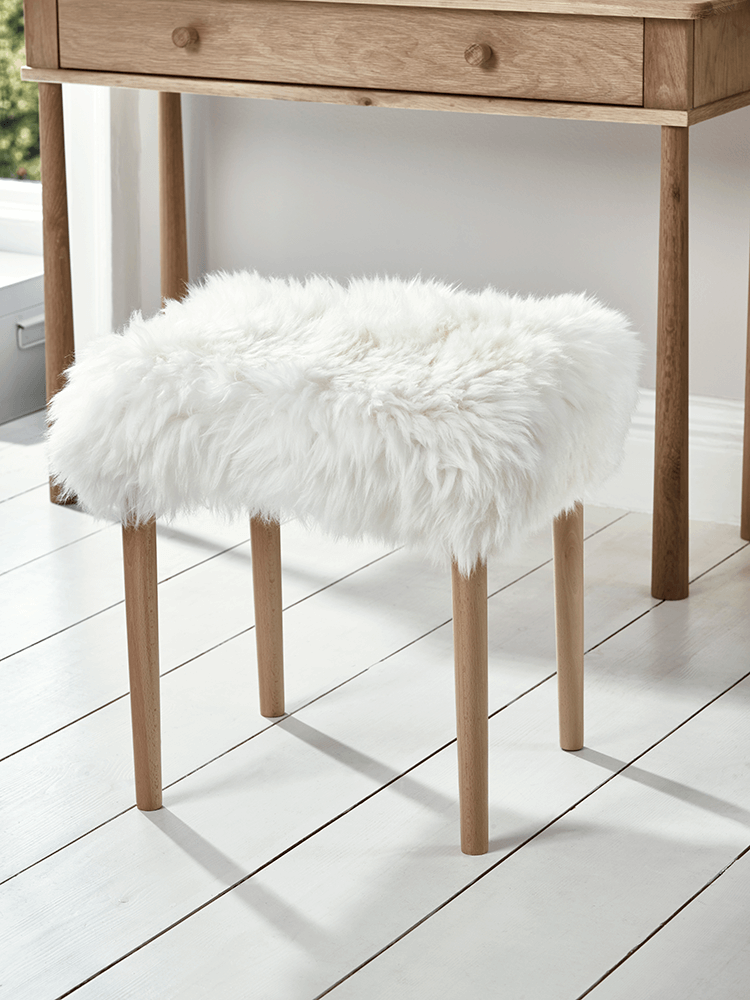 Carefully handmade in the uk our sheepskin dressing table Dressing tables and stools