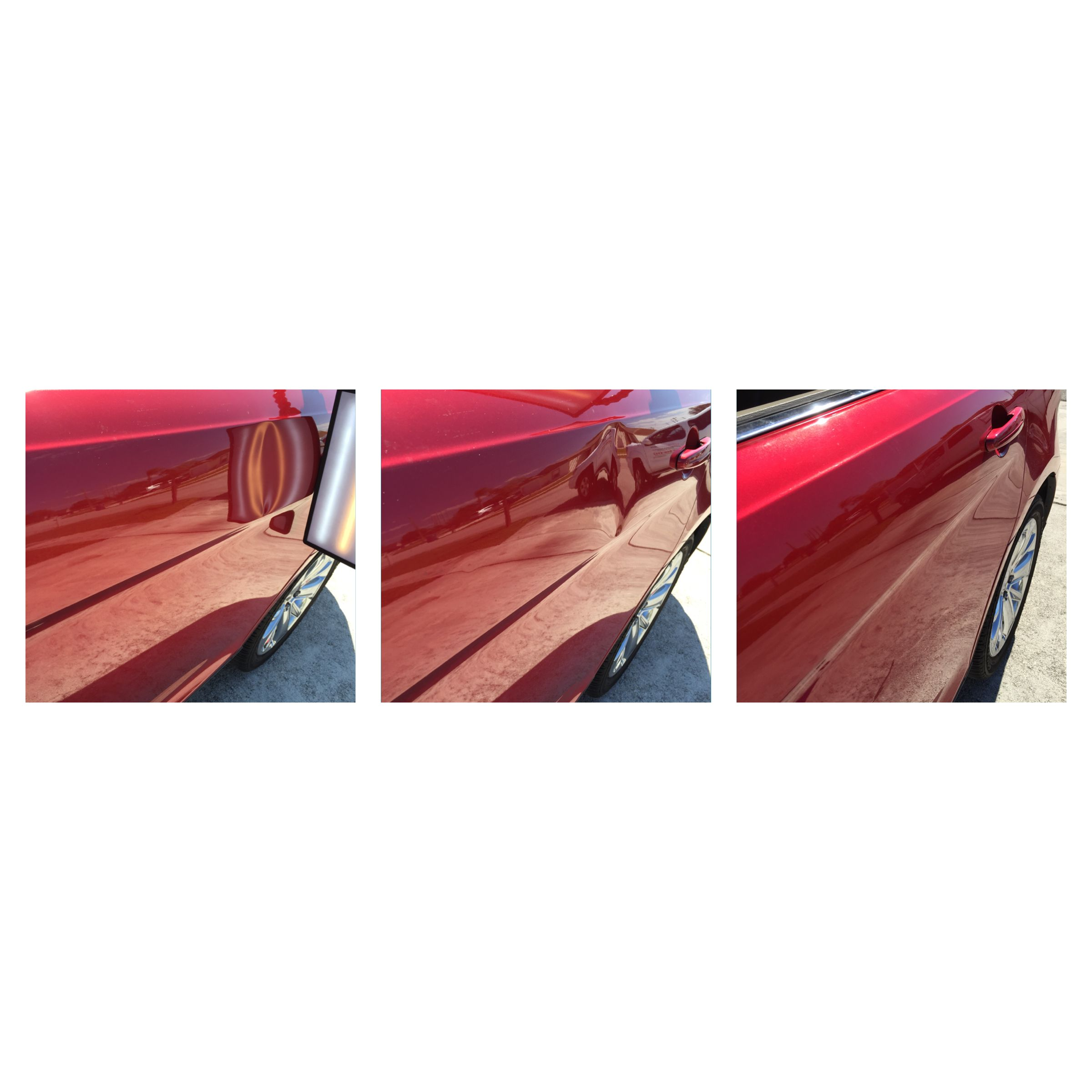 Ford Taurus Crease Dent Before Middle And After Removal Best Mobile Mobile Dent Repair Dent Repair