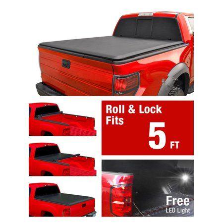Accessories 5 5ft Tri Fold Soft Vinyl Truck Bed Tonneau Cover