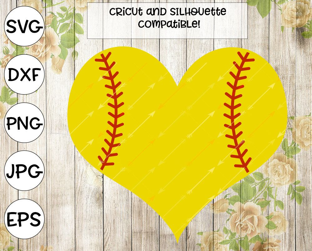 Softball svg, heart svg, softball shirt, sports svg