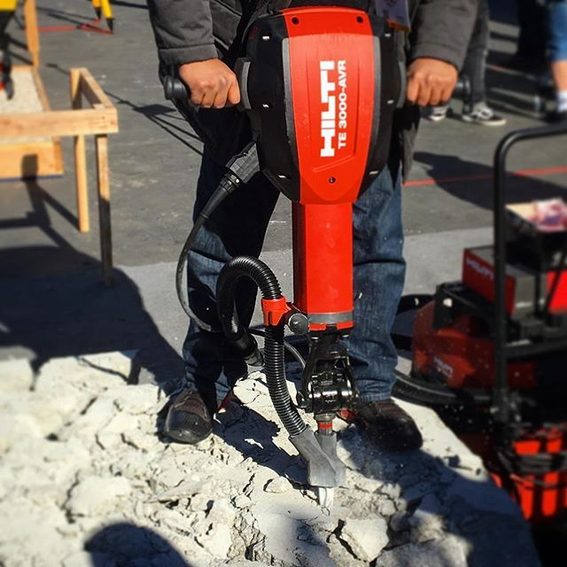 Check out the #Hilti TE 3000 with a new dust attachment. Get OSHA ready and let us be your partner. #osha #dust #construction #breaker #concrete #woc2017