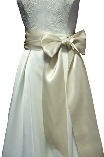 Wide Long Simple Ribbon Sash For Formal Wedding Dress Belts Champagne Width 4 Length 90 Contact Us If You Have Any Questions