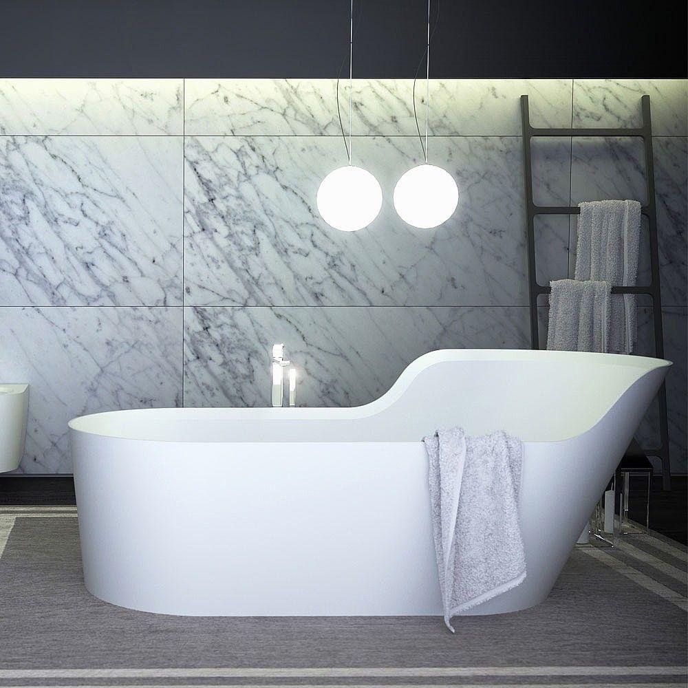 K-Stone Glow Asymmetric Right Freestanding Bath | Freestanding ...