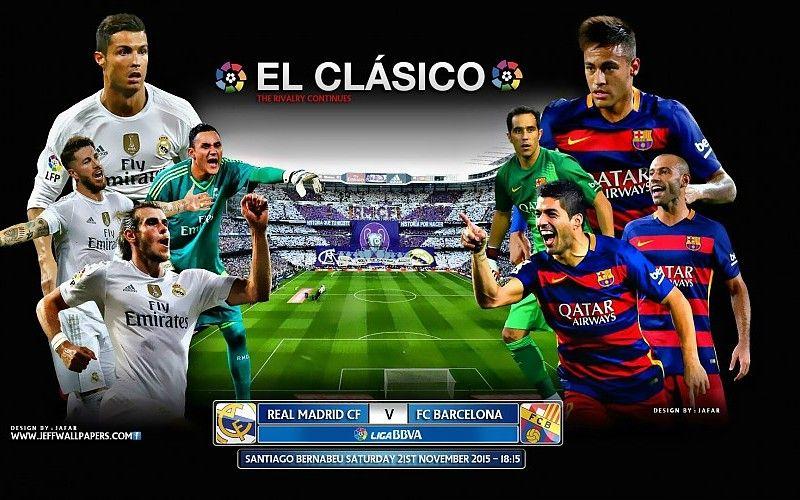 Real Madrid Vs Fc Barcelona 2015 2016 El Clasico Hd Wallpaper Free